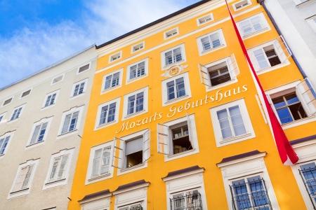 amadeus mozart: Lugar de nacimiento del famoso compositor Wolfgang Amadeus Mozart en Salzburgo, Austria