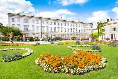 schloss: Schloss Mirabell with Mirabellgarten in Salzburg, Austria Editorial