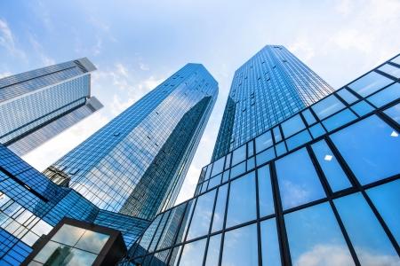 Wolkenkrabbers in Frankfurt, Duitsland Stockfoto