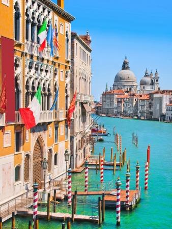 santa maria: Canal Grande and Basilica di Santa Maria della Salute, Venice, Italy Stock Photo