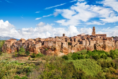 Panoramic view of the medieval town of Pitigliano in Tuscany, Italy photo