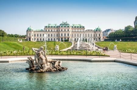 Beautiful view of famous Schloss Belvedere in Vienna, Austria Stock Photo - 25055972