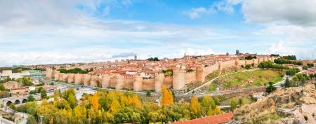 Panoramic view of the historic city of Avila, Castilla y Leon, Spain photo