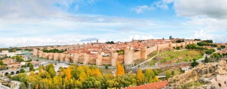 castile leon: Panoramic view of the historic city of Avila, Castilla y Leon, Spain