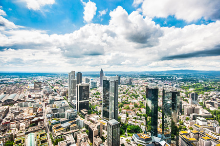 Panoramic view of Frankfurt am Main, Germany photo