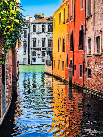 Romantic scene in Venice, Italy Stock Photo
