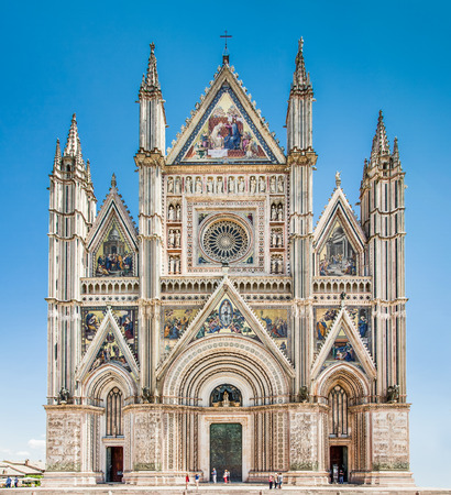 terni: Famous Cathedral of Orvieto, Umbria, Italy Editorial