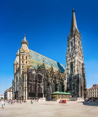 Beroemde St Stephens Kathedraal op Stephansplatz in Wenen, Oostenrijk