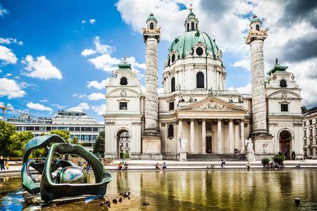 Karlskirche à Karlsplatz à Vienne, Autriche Banque d'images