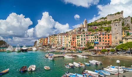 sea of houses: Beautiful fisherman town of Portovenere near Cinque Terre, Liguria, Italy