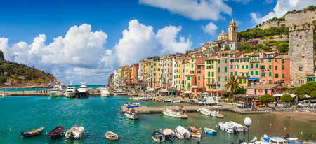 liguria: Beautiful fisherman town of Portovenere near Cinque Terre, Liguria, Italy