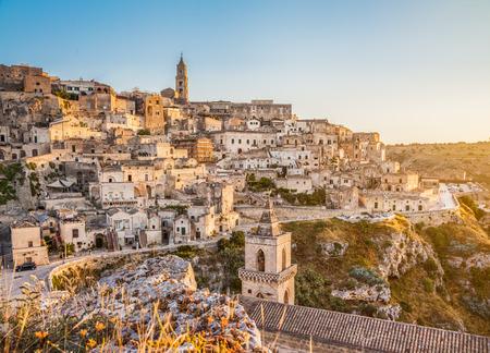 sassi: Ancient town of Matera Sassi di Matera, European Capital of Culture 2019 in beautiful golden morning light, Basilicata, Southern Italy
