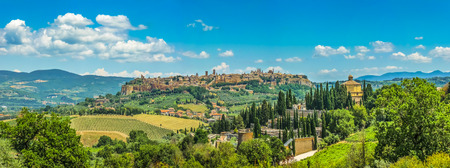 Beautiful panoramic view of the old town of Orvieto, Umbria, Italy Stock Photo