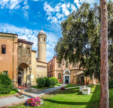ravenna: Famous Basilica di San Vitale, one of the most important examples of early Christian Byzantine art in western Europe, in Ravenna, region of Emilia-Romagna, Italy