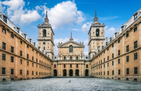 Royal Monastery of San Lorenzo de El Escorial near Madrid, Spain 版權商用圖片