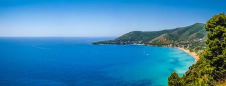 palinuro: Panoramic view of beautiful coastal landscape at the Cilentan Coast, province of Salerno, Campania, southern Italy