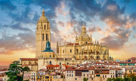 castilla y leon: Catedral de Santa Maria de Segovia in the historic city of Segovia, Castilla y Leon, Spain