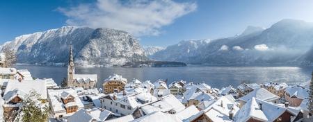Hallstatt panorama in winter, Austria