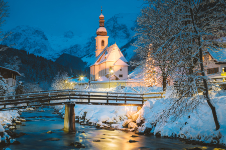 Beautiful twilight view of Sankt Sebastian pilgrimage church
