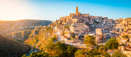 Panoramic view of the ancient town of Matera (Sassi di Matera)
