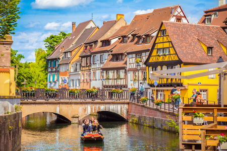 Beautiful view of the historic town of Colmar, also known as Little Venice