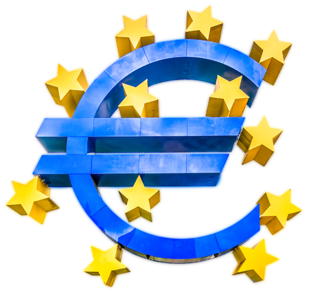 Euro sign isolated on white 写真素材 - 119086180