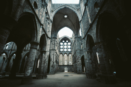 Beautiful view of famous Abbaye de Villers, a Cistercian monastery founded in 1146, Walloon Brabant region, Belgium Sajtókép