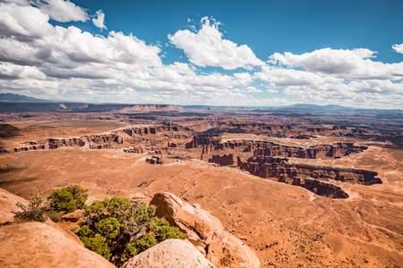 Beautiful American West scenery in Canyonlands National Park, Island In The Sky, Utah, USA