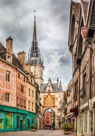 Beautiful view of the historic town of Auxerre, Burgundy, France