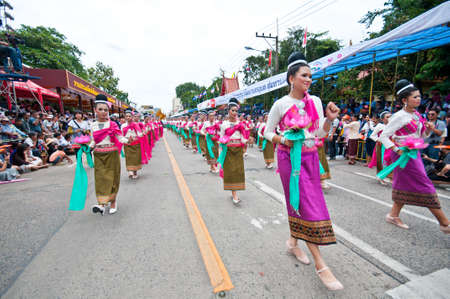 UBON RATCHATHANITHAILAND-AUGUST 3:Ubon Ratchathani Candle Festival 2012 on August 3,2012 in Ubon Ratchathani,thailand