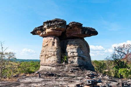monolithic: Monolithic giants,Ban Pa sun in Ubon Ratchathani Stock Photo