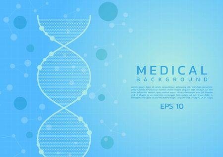 Medical dna design clean background care concept biology style with space for your text. vector illustration