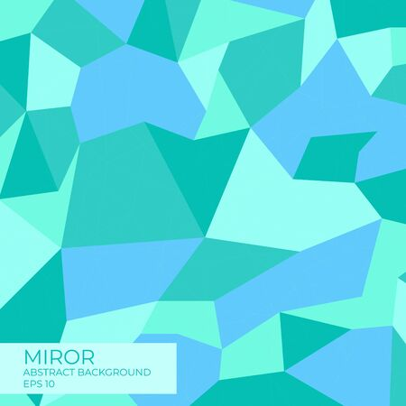 Miror abstract background modern polygon design blue style with line complex. vector illustration