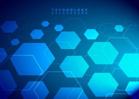 Technology background hexagon modern design digital connect line style. vector illustration