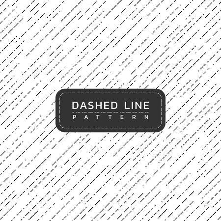 Dashed line pattern vintage design art monochrome rain inspiration. vector illustration Illusztráció