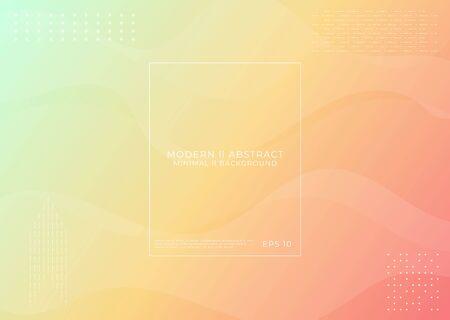 Modern minimal background fluid wave backdrop line art design halftone style. vector illustration Ilustração
