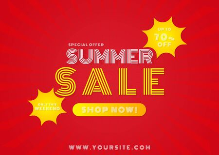 Special offer summer sale modern art announce design colorful for shopping. vector illustration.