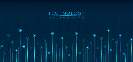 Technology line pattern data flow blue color glow light with space for your content. vector illustration.