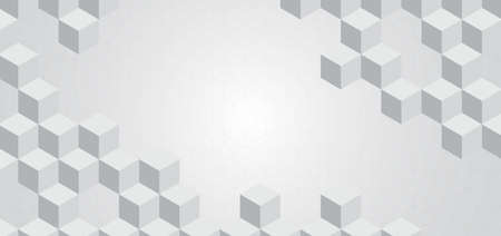 Geometric square shape 3d pattern design and pattern background. vector illustration.