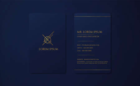 Luxury business card design modern premium style use for introduce yourself. vector illustration