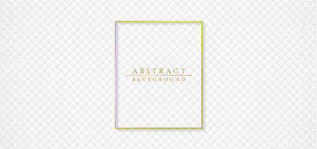 Minimal white square pattern grid design abstract clean background. vector illustration.