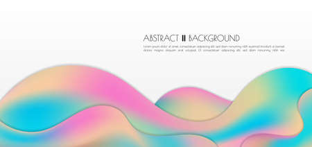 Modern fluid water shape design rainbow color style overlap layer with space for content. vector illustration. Иллюстрация
