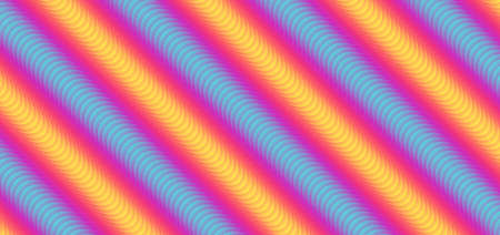 Line zigzag rainbow colorful pattern flow design overlap layer fluid style. vector illustration.