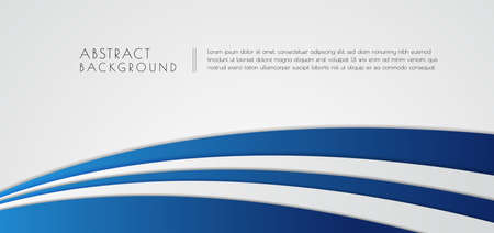 Abstract background modern overlap layer color blue and white bright with space. vector illustration.