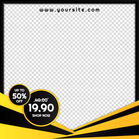 Sale banner black friday frame design modern style with space for image. vector illustration. Иллюстрация