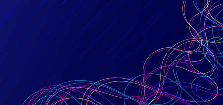 Line wave flow overlap complicate design colorful abstract background. vector illustration.