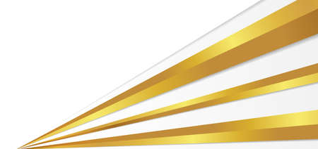 White background luxury gold overlap shape design with space for content. vector illustration.