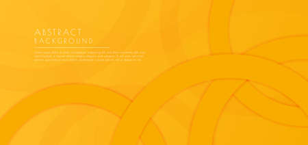 Abstract background circle ring overlap layer yellow color design. vector illustration.