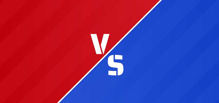 Esport battle background red versus blue concept. vector illustration.