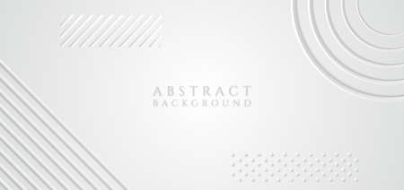 White geometric design abstract background line pattern halftone style. vector illustration.